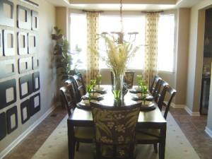 Cobblestone Ranch formal dining room in ranch plan