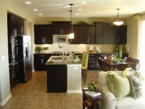 Cobblestone Ranch in Parker model home kitchen by Richmond